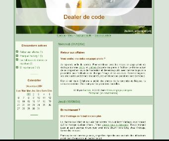 Capture d'écran de la mise en page par défaut